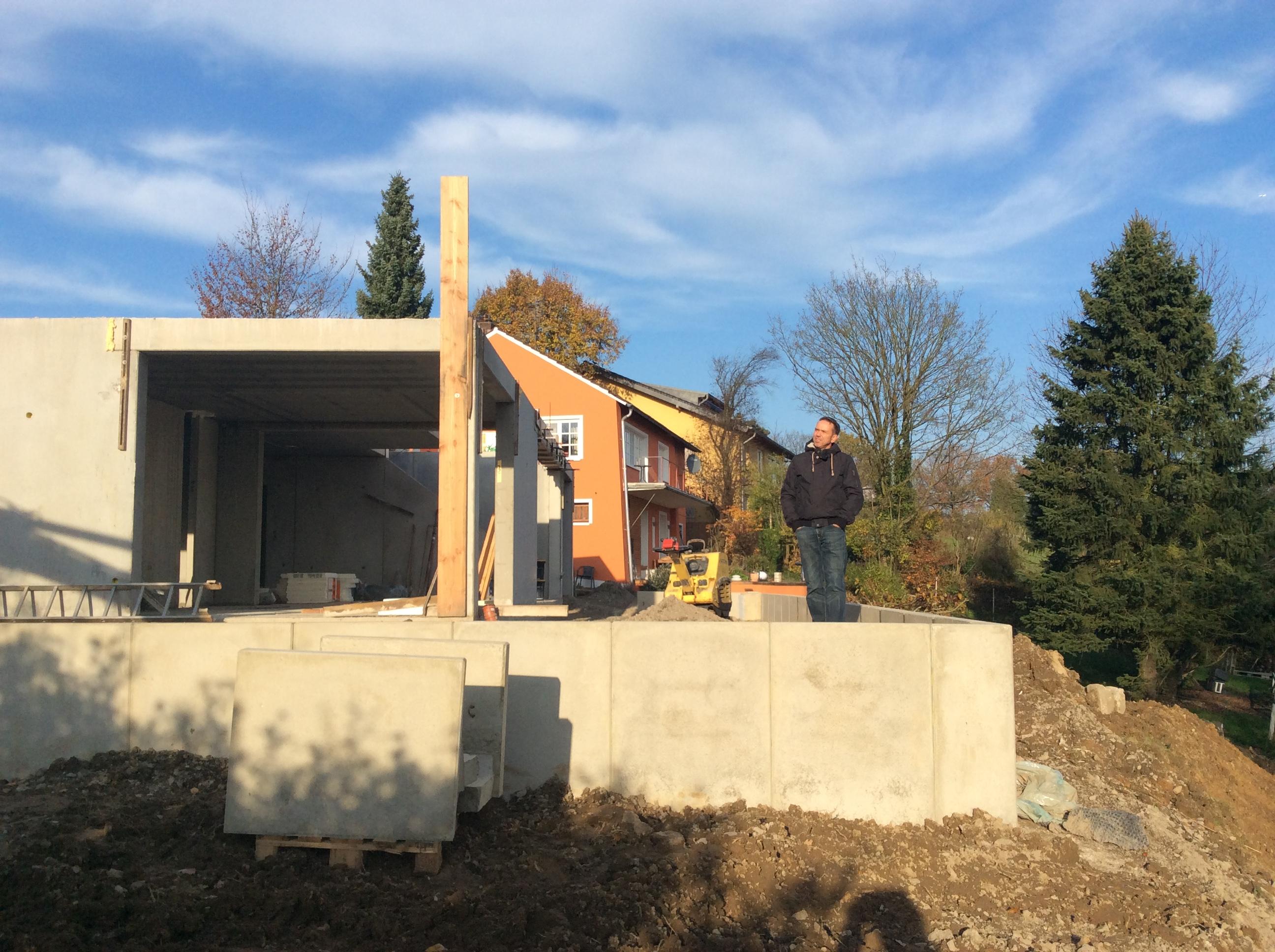 Terrasse Erde Und Beton Bauhaus Mit Kernhaus